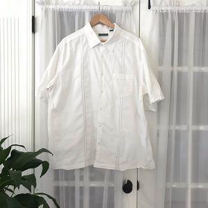 Cubavera Textured Cotton Button Down Shirt 2XL